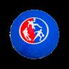 Ballon Officiel de couleur bleu pour pratiquer le DBL Ball, vue de face