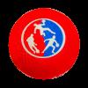Ballon Officiel de couleur rouge pour pratiquer le DBL Ball, vue de face